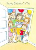 Birthday - Child - People At The Door
